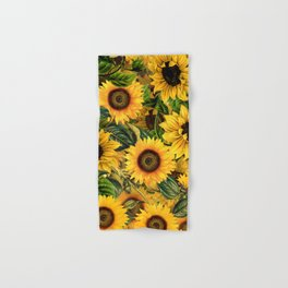 Vintage & Shabby Chic - Noon Sunflowers Garden Hand & Bath Towel