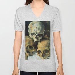 Pyramid Of Skulls, Paul Cezanne, 1900 Unisex V-Neck