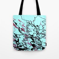 champagne Tote Bags featuring champagne by austeja saffron