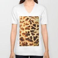 camo V-neck T-shirts featuring Serengeti Camo by Bunny Clarke
