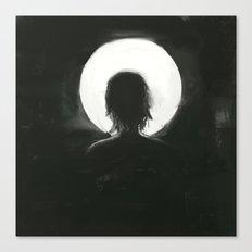 facing the moonlight Canvas Print