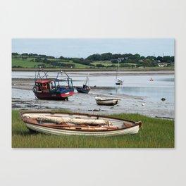 Sunderland Point Moorings Canvas Print