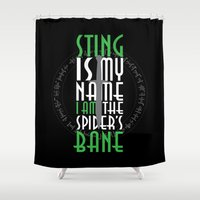 bane Shower Curtains featuring Spider's Bane by Out of the Dust Designs