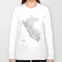 peru Long Sleeve T-shirts featuring Mapa Peru by Romivavi