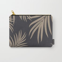 Palm Leaves Pattern Sepia Vibes #2 #tropical #decor #art #society6 Carry-All Pouch