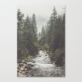 Mountain creek - Landscape and Nature Photography Canvas Print