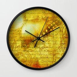 LE PAPILLON | yellow Wall Clock