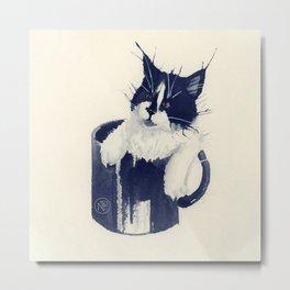 Watercolour cat 02 Metal Print