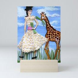 The African Safari Illustration By James Thomas Ryan Mini Art Print