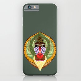 Mandrillus Sphinx iPhone Case