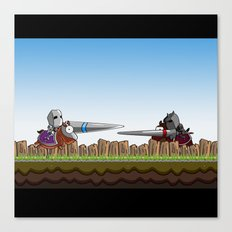 Joust It Canvas Print