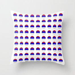 flag of Serbia 3-balkan,serbian,europe,yugoslavia, Pannonian,Belgrade,Novi Sad,nis,kragujevac Throw Pillow
