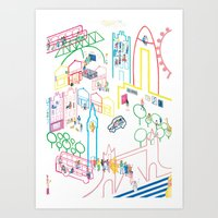 London Places and Spaces Art Print