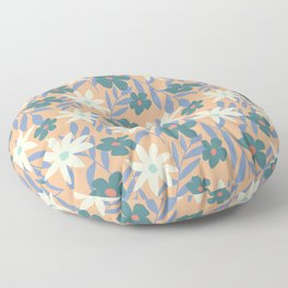 Just Peachy Floral Floor Pillow