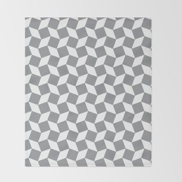 Grey Op Art Pattern Throw Blanket
