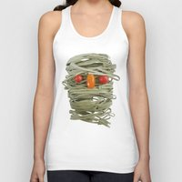 pasta Tank Tops featuring A Thing of the Pasta by Marco Angeles