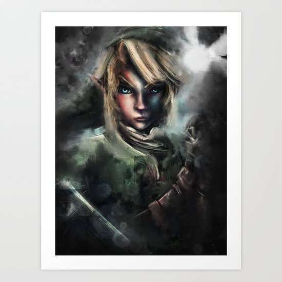 Legend of Zelda Link the Epic Hylian Art Print