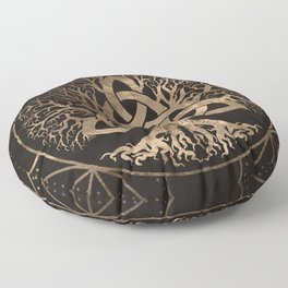Tree of life -Yggdrasil with Triquetra Floor Pillow