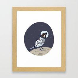Space Sparrow Framed Art Print
