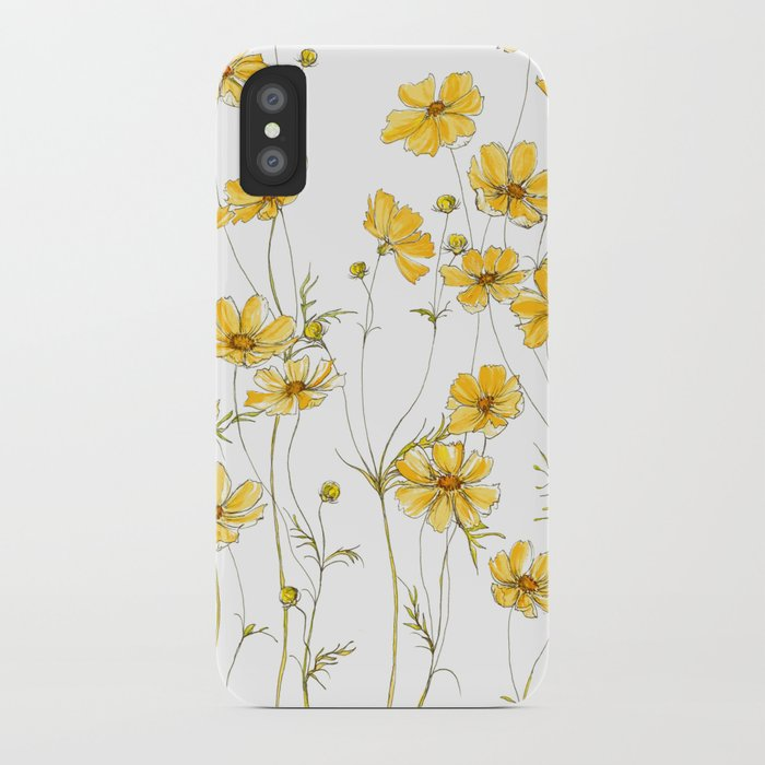 save off 8fb63 c6cd3 Yellow Cosmos Flowers iPhone Case by jrosedesign