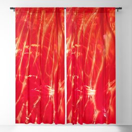 Red shiny dragonglass Blackout Curtain