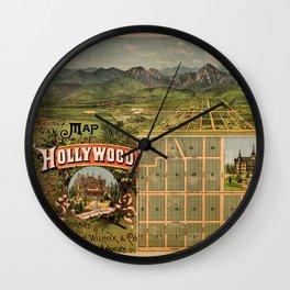 Map Of Hollywood 1887 Wall Clock