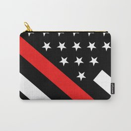 Firefighter: Black Flag & Red Line Carry-All Pouch