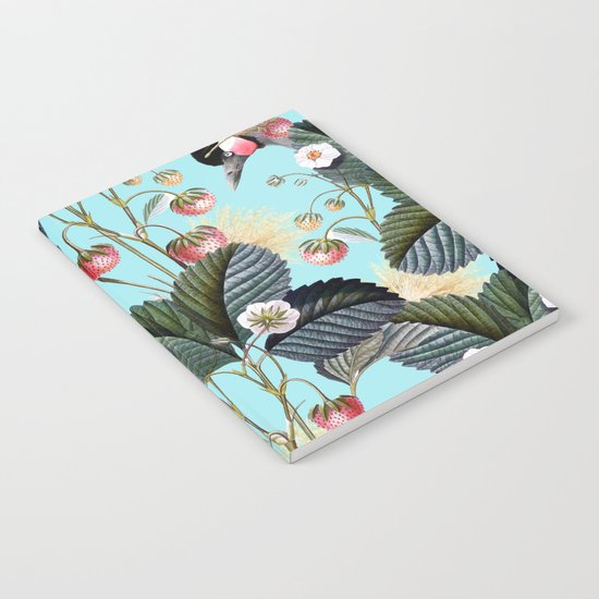 Strawberry Brush Hide-Out #society6 #decor #buyart Notebook