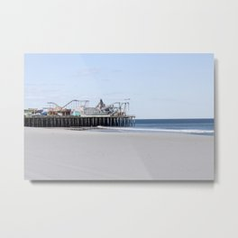 Seaside Pier Metal Print