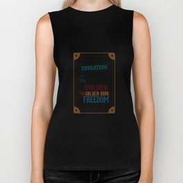 Lab No.4 - Education Is The Key To Unlock - George Washington Carver Inspirational Quotes poster Biker Tank