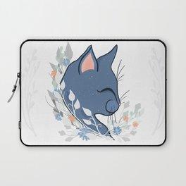 Happy Cat In The Springtime Garden Laptop Sleeve