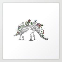 Stego-flora-saurus Art Print