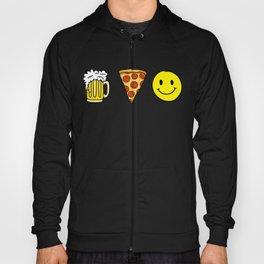 Beer Pizza Happiness Hoody