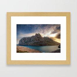 Maïre Island (Marseilles, France) Framed Art Print
