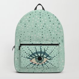 Abstract Eye With Dots Backpack