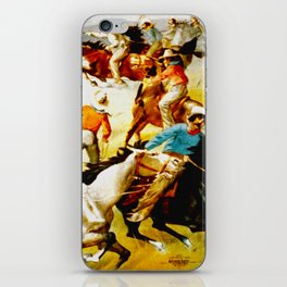 Vintage Wild West Show Poster iPhone Skin