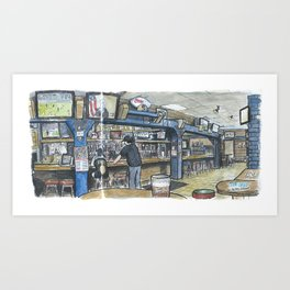 The Grad, Davis Art Print