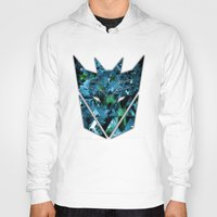 transformers Hoodies featuring Decepticons Abstractness - Transformers by DesignLawrence