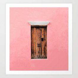 FLOATING IN PINK Art Print