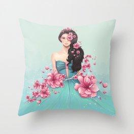 Arden Cho - Sakuras Throw Pillow