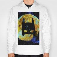 bat Hoodies featuring BAT by Saundra Myles