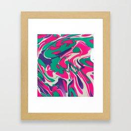 Cotton Candy Swirls Framed Art Print