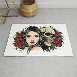 White Clawing Date Rug