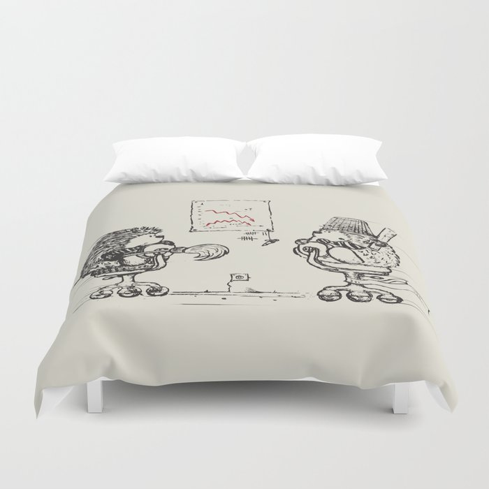 Meanwhile,at the office... Duvet Cover