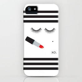 Lipstick & Lashes iPhone Case