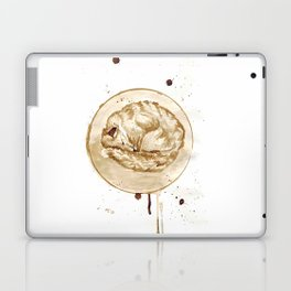 Coffee sleeping fox Laptop & iPad Skin