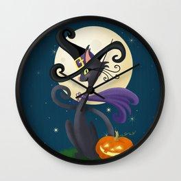 Halloween Night Magic Wall Clock