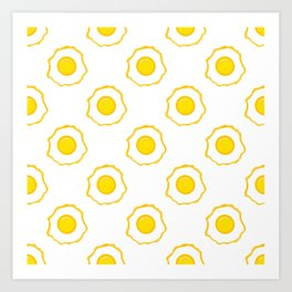 Eggs Pattern Art Print
