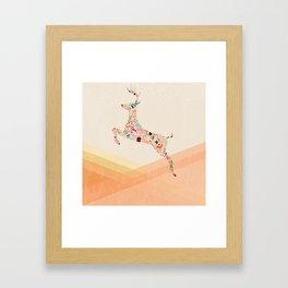 Christmas reindeer 5 Framed Art Print