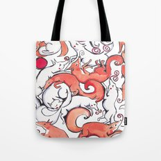 Fox Pattern Tote Bag